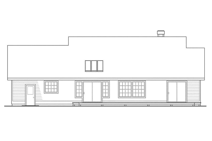 Home Plan Rear Elevation of this 3-Bedroom,1794 Sq Ft Plan -108-1315