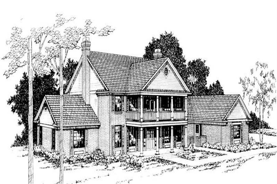 4-Bedroom, 3774 Sq Ft Luxury House Plan - 108-1318 - Front Exterior