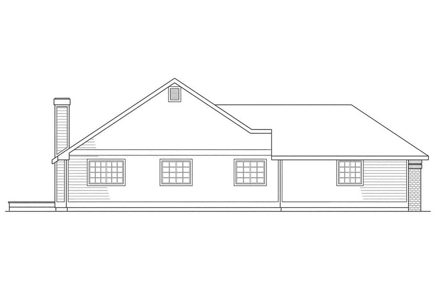Home Plan Left Elevation of this 3-Bedroom,1790 Sq Ft Plan -108-1321