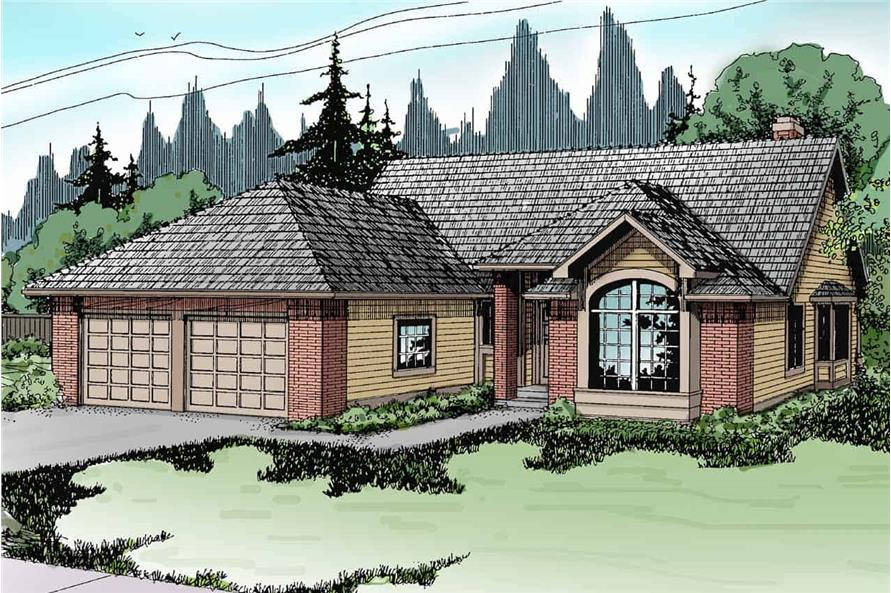 3-Bedroom, 1790 Sq Ft Transitional Home - Plan #108-1321 - Main Exterior