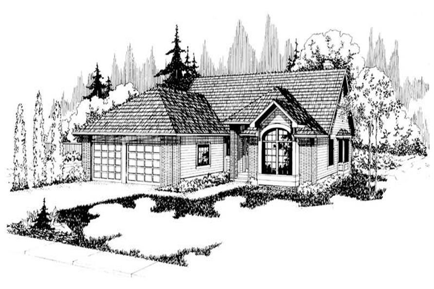 3-Bedroom, 1790 Sq Ft Small House Plans - 108-1321 - Front Exterior