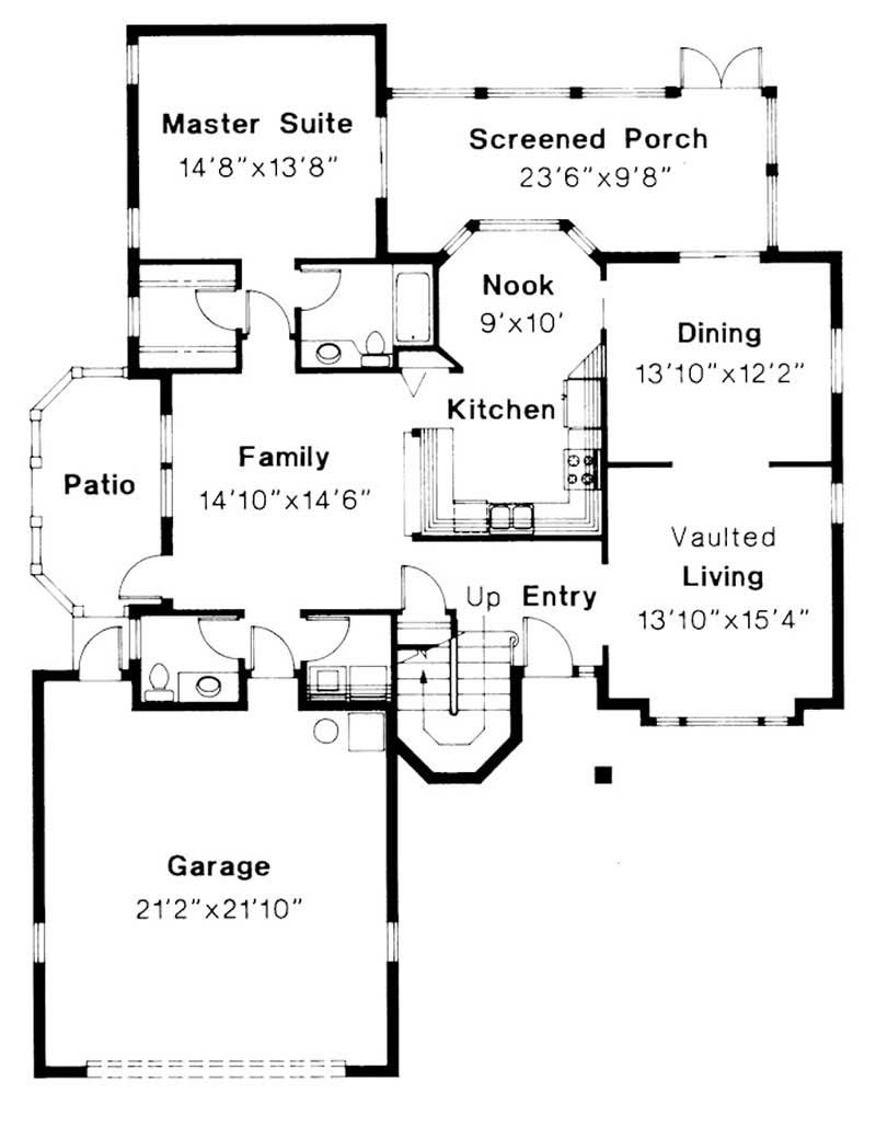 First Floor Floor Plan for Sequoia
