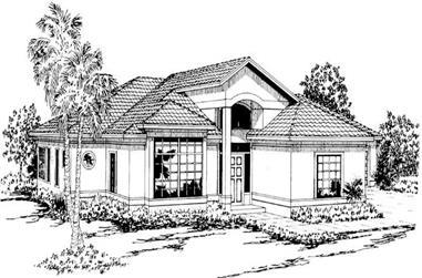 3-Bedroom, 1796 Sq Ft Mediterranean House Plan - 108-1326 - Front Exterior