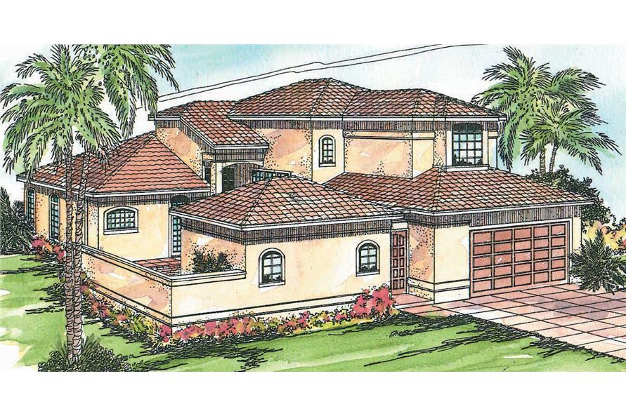 4-Bedroom, 2567 Sq Ft In-Law Suite House Plan - 108-1328 - Front Exterior