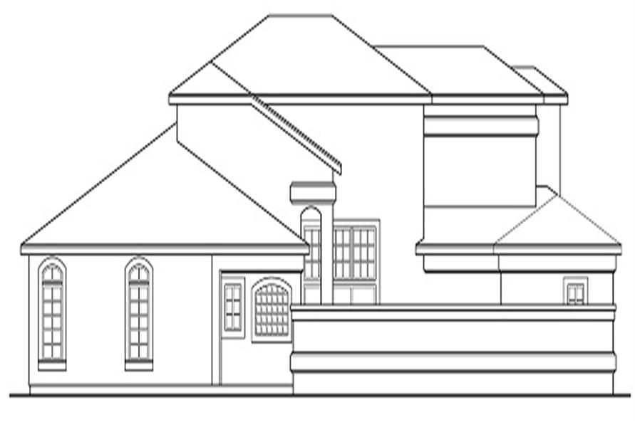 Home Plan Left Elevation of this 4-Bedroom,2567 Sq Ft Plan -108-1328