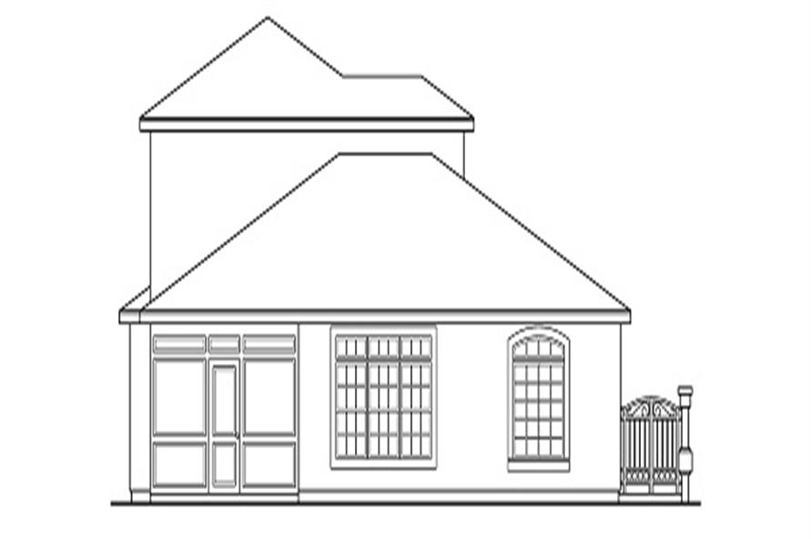 Home Plan Rear Elevation of this 4-Bedroom,2567 Sq Ft Plan -108-1328