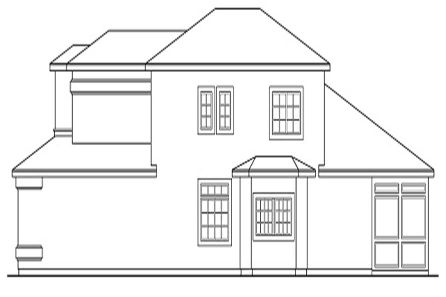 Home Plan Right Elevation of this 4-Bedroom,2567 Sq Ft Plan -108-1328