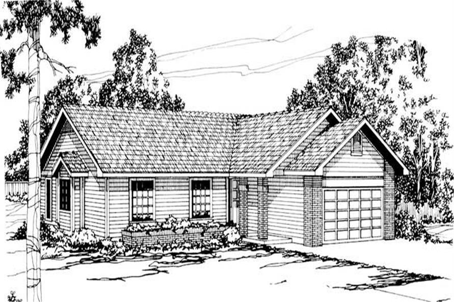 3-Bedroom, 1463 Sq Ft Ranch Home Plan - 108-1330 - Main Exterior