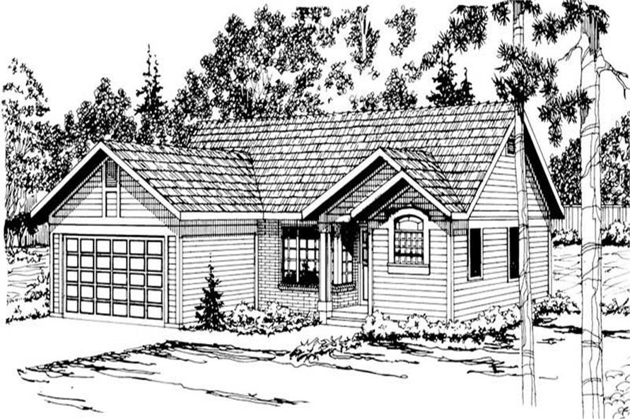 3-Bedroom, 1293 Sq Ft Small House Plans - 108-1333 - Main Exterior