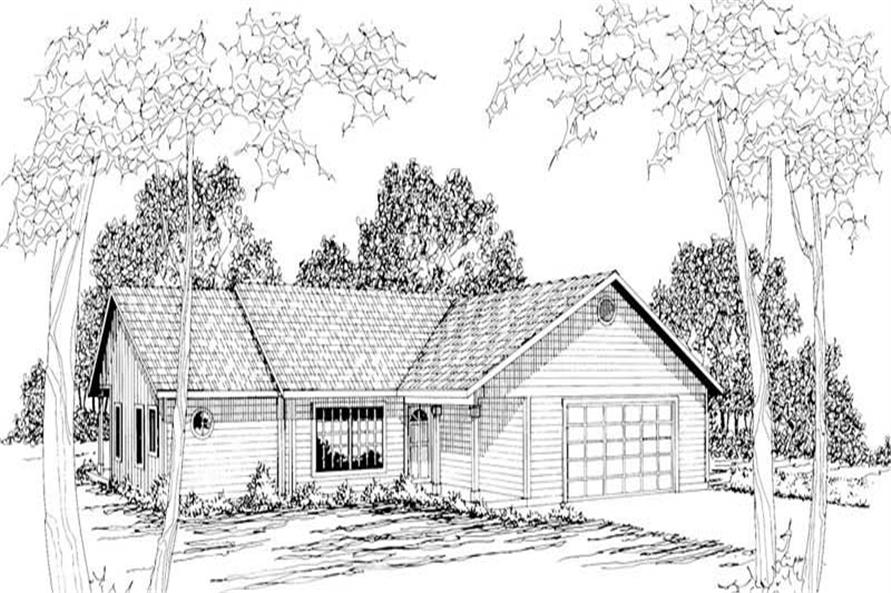 2-Bedroom, 1522 Sq Ft Small House Plans - 108-1334 - Main Exterior