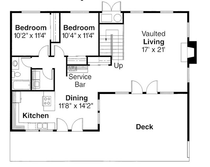 First Floor Floor Plan for Cascade