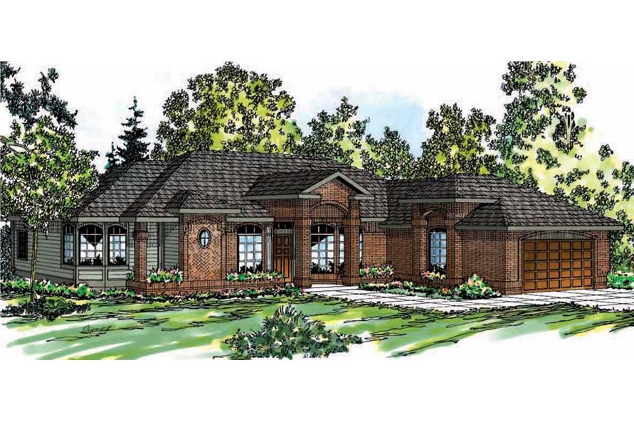 3-Bedroom, 2396 Sq Ft Ranch Home Plan - 108-1339 - Main Exterior