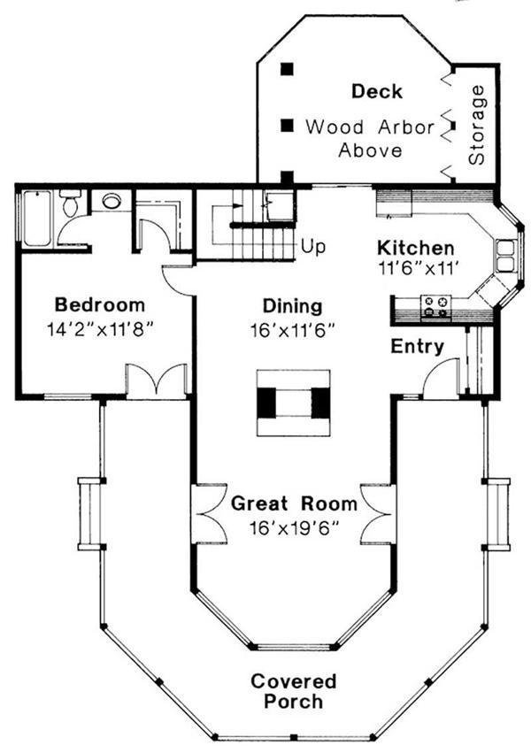 First Floor Floor Plan for Lakeview