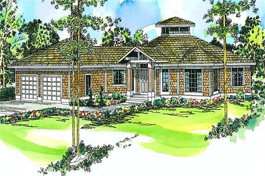 3-Bedroom, 2417 Sq Ft Ranch Home Plan - 108-1342 - Main Exterior