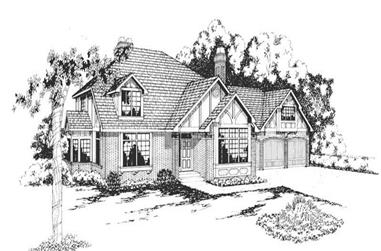 4-Bedroom, 3787 Sq Ft Home Plan - 108-1344 - Main Exterior