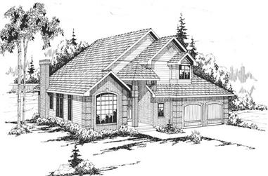 3-Bedroom, 2335 Sq Ft Traditional Home Plan - 108-1345 - Main Exterior