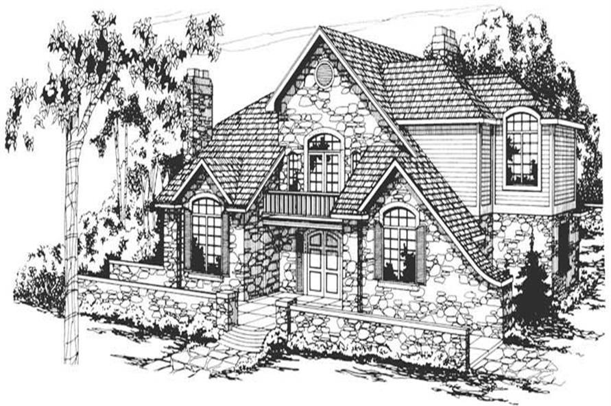 5-Bedroom, 3611 Sq Ft European Home Plan - 108-1346 - Main Exterior