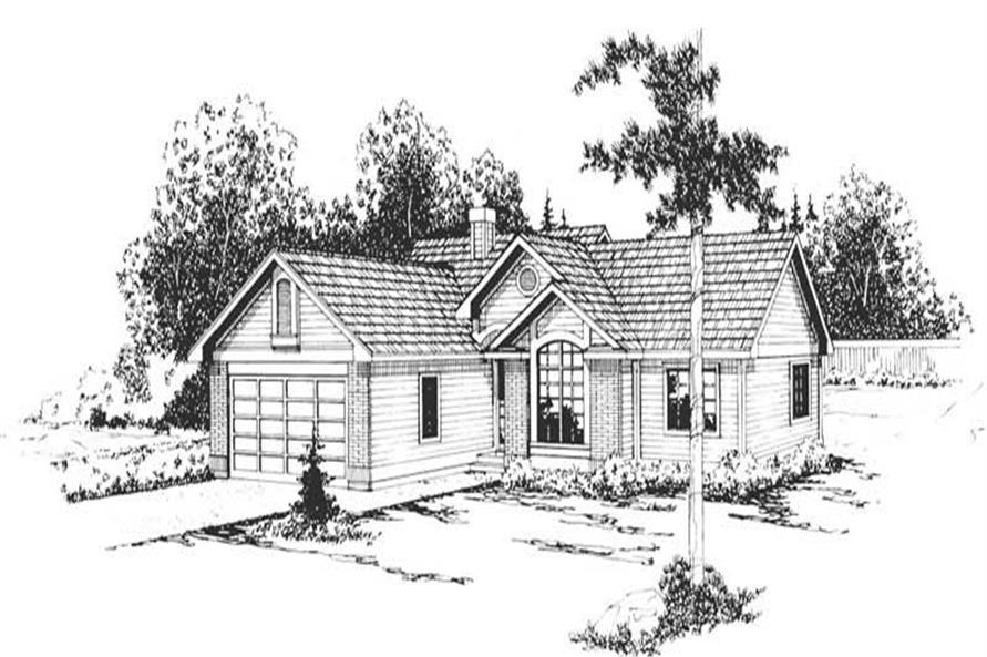 3-Bedroom, 1410 Sq Ft Small House Plans - 108-1347 - Main Exterior