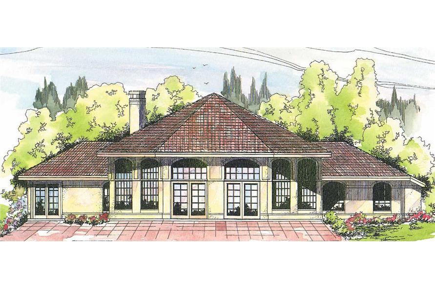3-Bedroom, 2603 Sq Ft Ranch House Plan - 108-1350 - Front Exterior