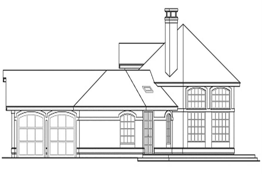 Home Plan Right Elevation of this 3-Bedroom,2603 Sq Ft Plan -108-1350
