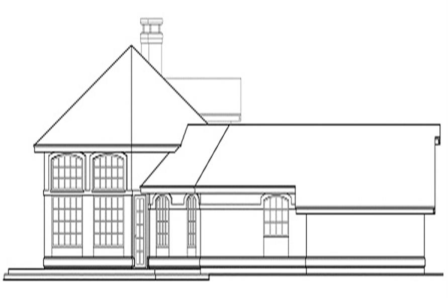108-1350 house plan left elevation