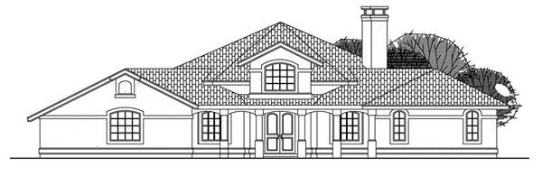 108-1350 house plan front elevation