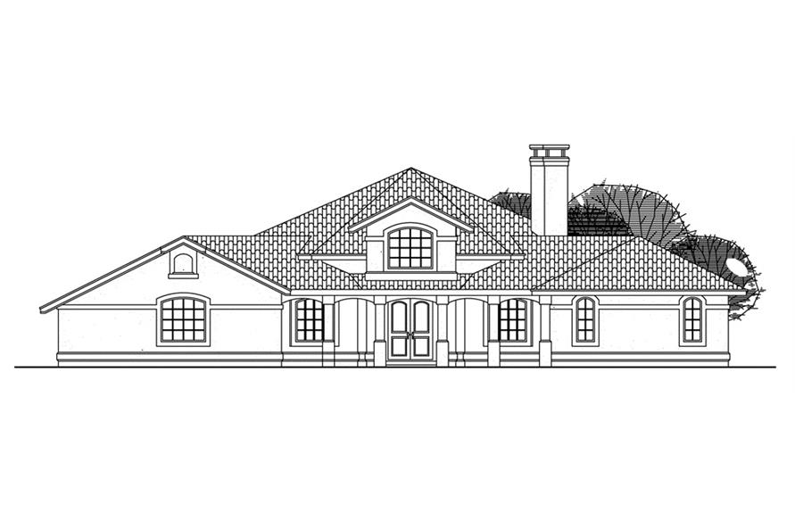 Home Plan Front Elevation of this 3-Bedroom,2603 Sq Ft Plan -108-1350