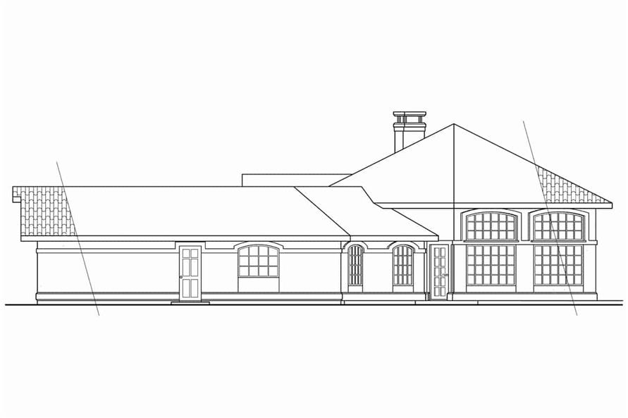 Home Plan Right Elevation of this 3-Bedroom,1965 Sq Ft Plan -108-1354