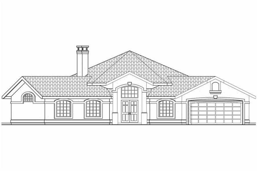 Home Plan Front Elevation of this 3-Bedroom,1965 Sq Ft Plan -108-1354