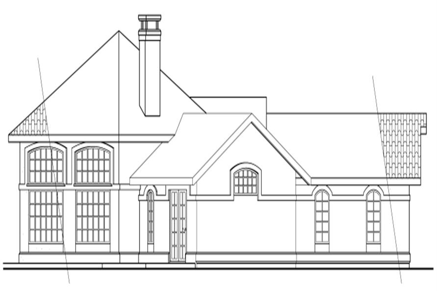 Home Plan Left Elevation of this 3-Bedroom,1965 Sq Ft Plan -108-1354