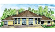 This image shows the southwest style for this set of house plans.