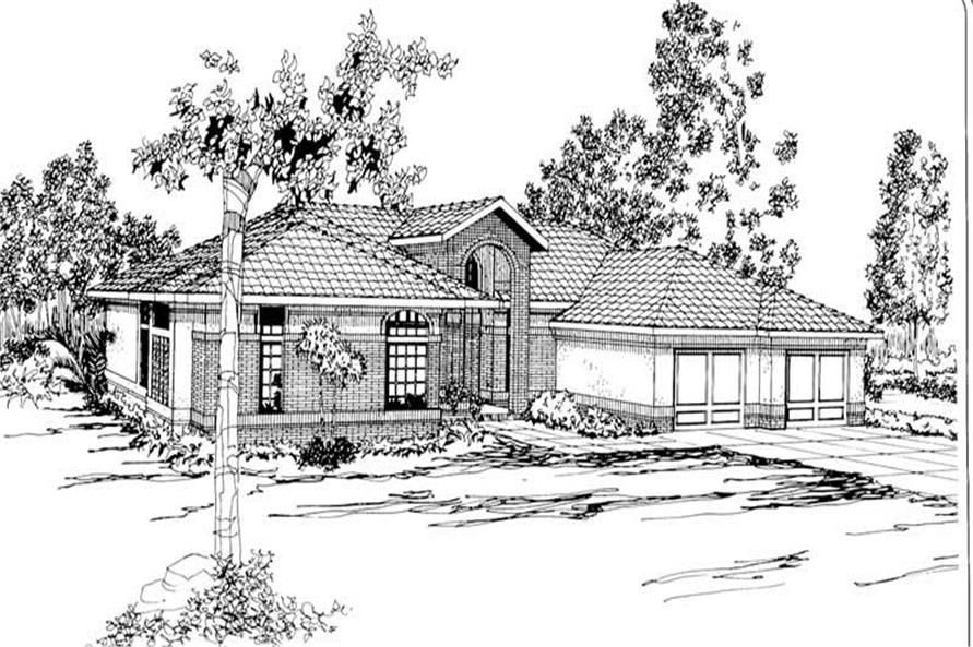 3-Bedroom, 2672 Sq Ft Contemporary House Plan - 108-1357 - Front Exterior