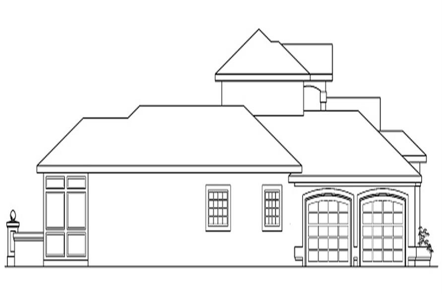 Home Plan Rear Elevation of this 3-Bedroom,2607 Sq Ft Plan -108-1360