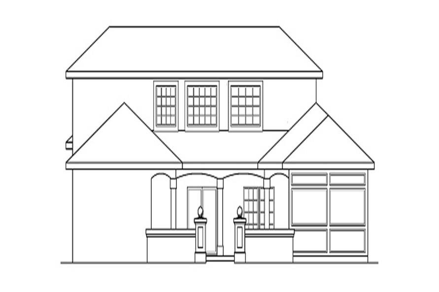 Home Plan Left Elevation of this 3-Bedroom,2607 Sq Ft Plan -108-1360