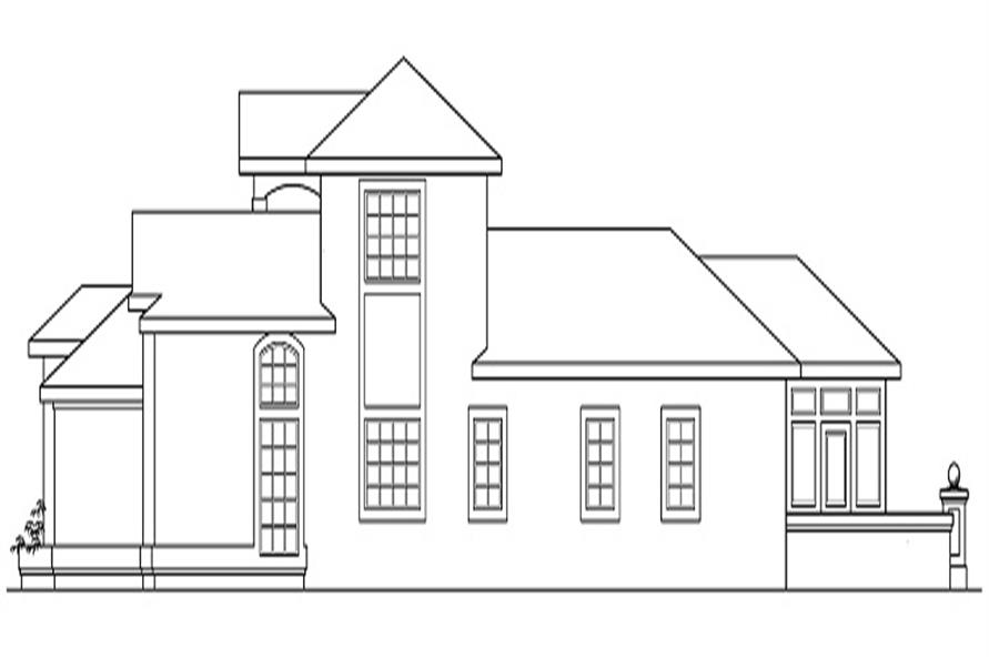 Home Plan Right Elevation of this 3-Bedroom,2607 Sq Ft Plan -108-1360