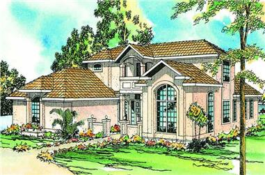 3-Bedroom, 2607 Sq Ft Florida Style House Plan - 108-1360 - Front Exterior