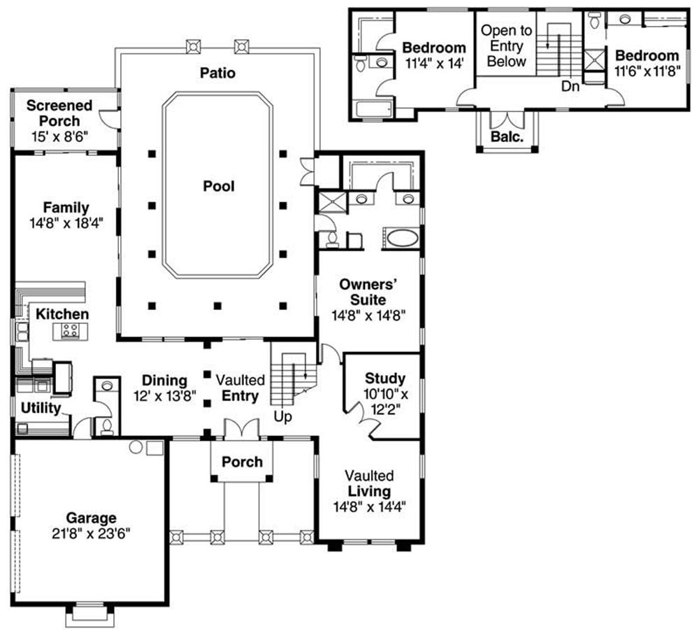 First Floor Floor Plan for Roswell