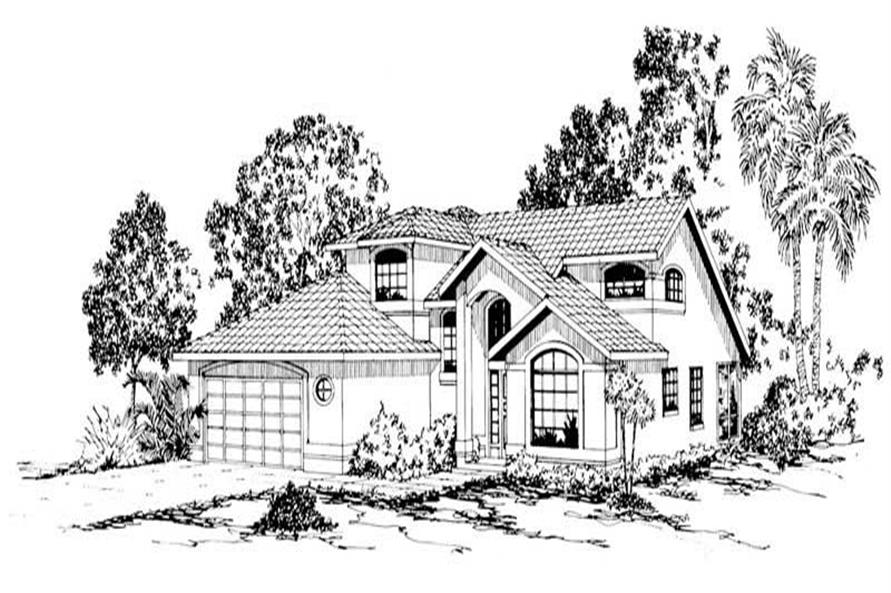 3-Bedroom, 2270 Sq Ft Mediterranean House Plan - 108-1365 - Front Exterior