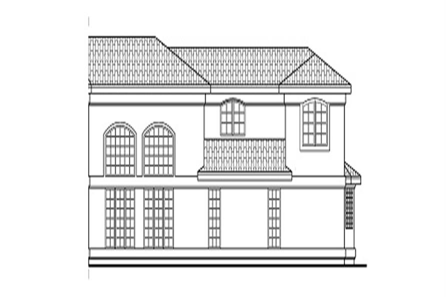 Home Plan Right Elevation of this 5-Bedroom,3327 Sq Ft Plan -108-1370