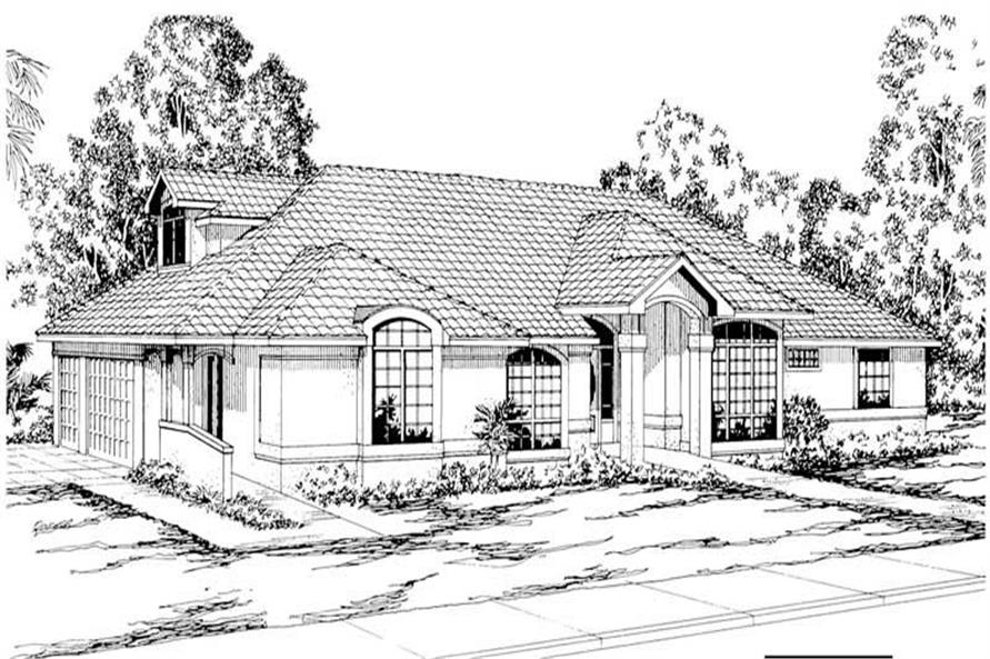 3-Bedroom, 3298 Sq Ft House Plan - 108-1371 - Front Exterior