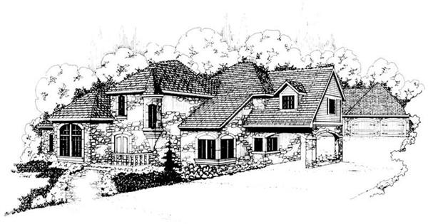 Home Plan Rendering for this set of house plans.