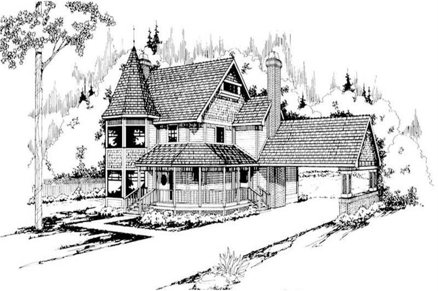 3-Bedroom, 2361 Sq Ft Victorian House Plan - 108-1378 - Front Exterior