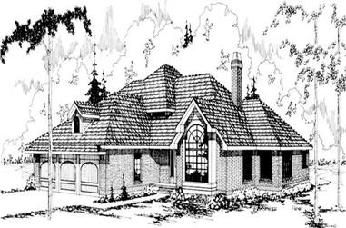 5-Bedroom, 3704 Sq Ft Luxury House Plan - 108-1381 - Front Exterior