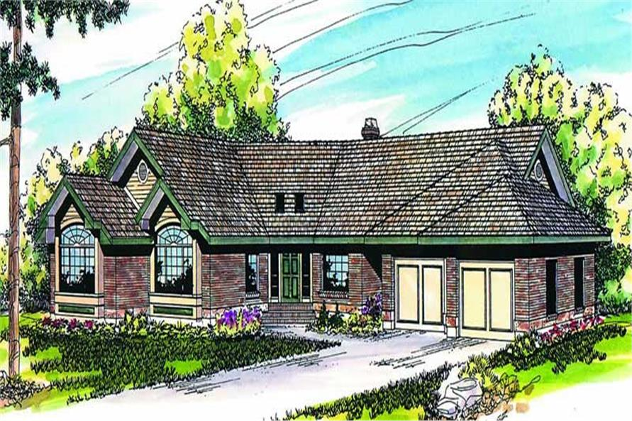 3-Bedroom, 2630 Sq Ft Ranch House Plan - 108-1388 - Front Exterior