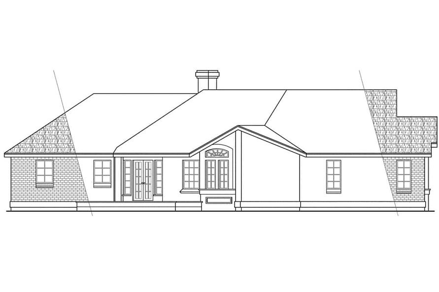 108-1388: Home Plan Left Elevation
