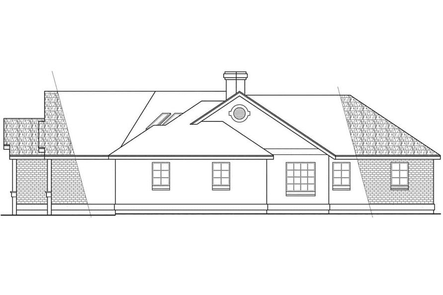 108-1388: Home Plan Right Elevation