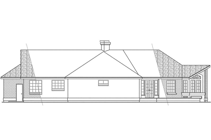 108-1388: Home Plan Rear Elevation