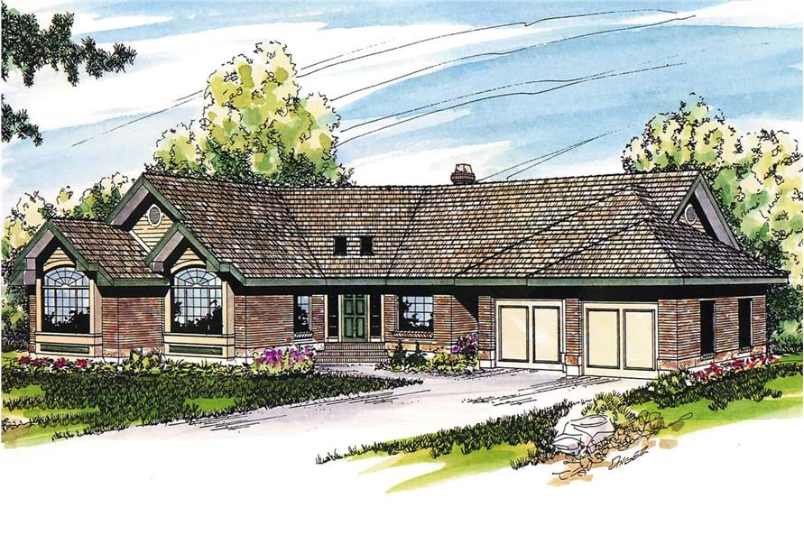 Ranch style home (ThePlanCollection: Plan #108-1388)