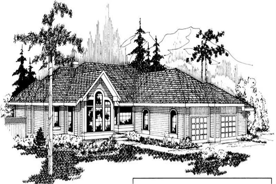 3-Bedroom, 2260 Sq Ft Contemporary House Plan - 108-1391 - Front Exterior