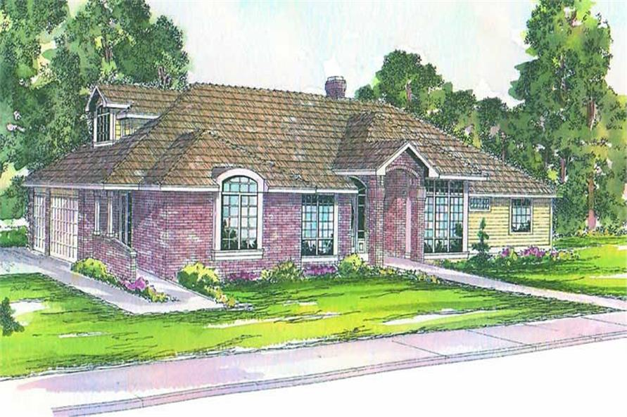 3-Bedroom, 2950 Sq Ft Contemporary House Plan - 108-1393 - Front Exterior